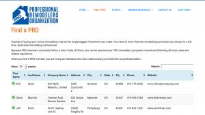 PRO Remodelers Organization